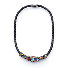 Butler & Wilson Square Crystal Magnetic Clasp 44cm Necklace