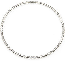 Bianca Platinum Plated Twist Bangle Sterling Silver