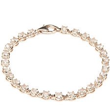 3.7ct Morganite Oval Bracelet Rose Gold Vermeil Sterling Silver