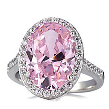 Diamonique 6.3ct tw Cocktail Ring Sterling Silver