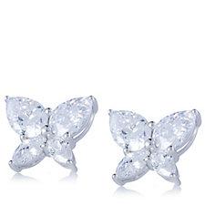 309546 - Diamonique 6.6ct tw Butterfly Stud Earrings Sterling Silver