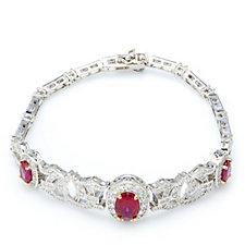 Elizabeth Taylor Simulated Ruby Antique Style Bracelet