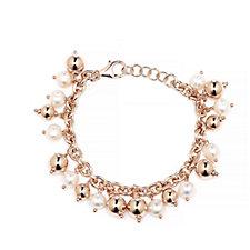 Honora 7-8mm Cultured Pearl & Bead 19cm Bracelet Bronze