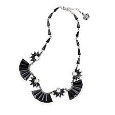 305147 - Butler & Wilson Crystal Art Deco Style Segments 42cm Necklace