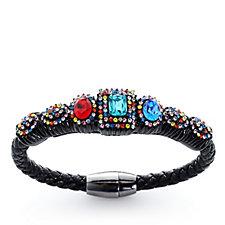 Butler & Wilson Square Crystal Magnetic Clasp Bracelet