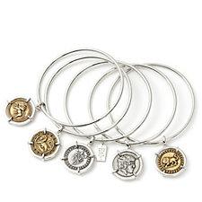 Elizabeth Taylor Set of 5 Coin Charm Bangles