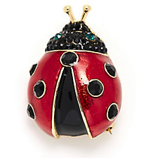 Butler & Wilson Crystal Ladybird Brooch