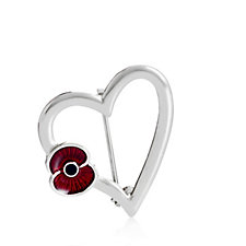The Poppy Collection Simple Heart Brooch by Buckley London