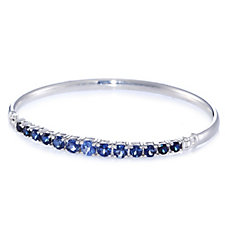 Diamonique 3.5ct tw Graduating Bangle Sterling Silver