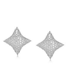 Frank Usher Crystal Cushion Clip On Earrings