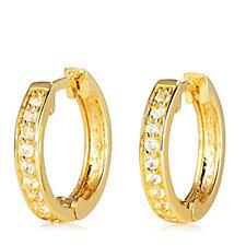 K by Kelly Hoppen Simulated Gemstone Huggie Earrings Sterling Silver