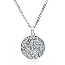 302848 - loveRocks Crystal Wave Round Pendant & 45cm Chain with Extender