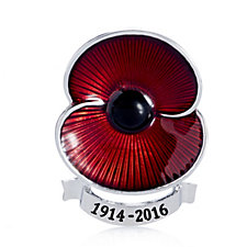 The Poppy Collection 2016 Scroll Brooch by Buckley London