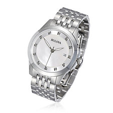 Bulova Ladies Diamond Set Stainless Steel Watch