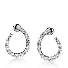 Michelle Mone for Diamonique 1.3ct tw Flat Hoop Earring Sterling Silver