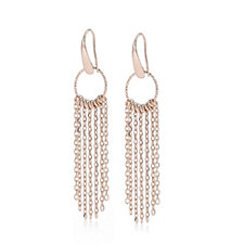 Bronzo Italia Chain Drop Earrings
