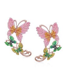 Butler & Wilson Three Butterflies Earrings