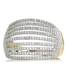 0.5ct Diamond Multi Row Cocktail Ring 9ct Gold