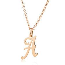 Bronzo Italia Initial Pendant & 45cm Necklace
