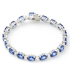 Elizabeth Taylor Simulated Gemstone Tennis 19cm Bracelet