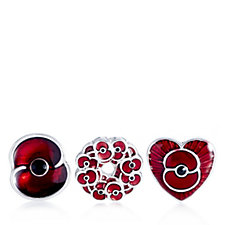 The Poppy Collection Set of 3 Pins by Buckley London