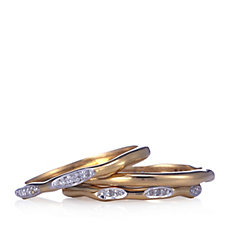 Lisa Snowdon Stack Me Diamond Waves Ring Sterling Silver
