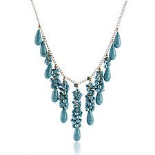 Butler & Wilson Cluster Chain 42cm Necklace