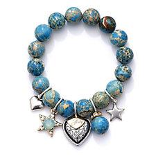Bibi Bijoux Ball Stretch with Charms Bracelet