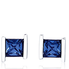 305050 - Aurora Swarovski Crystal Princess Cut Stud Earrings