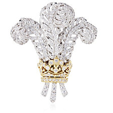 Elizabeth Taylor 7.2ct tw Simulated Diamond Windsor Feather Brooch