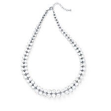loveRocks Double Row Crystal 44cm Necklace