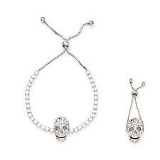 Butler & Wilson Crystal Skull Bracelet & Ring Set