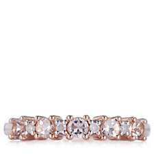 0.5ct Morganite & Diamond 1/2 Eternity Ring 9ct Gold