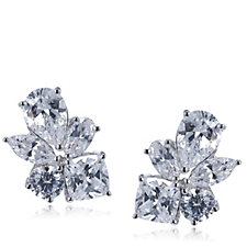Michelle Mone for Diamonique 4.3ct Mixed Cut Stud Earrings Sterling Silver