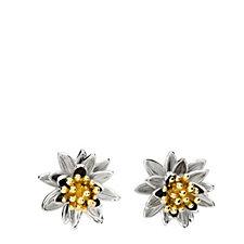 Azendi Birthday Flowers Waterlily Earrings Sterling Silver