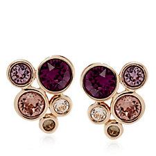 Aurora Swarovski Crystal Bouquet Earrings