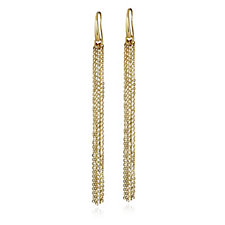 Veronese Glamour Tassel Drop Earrings Sterling Silver