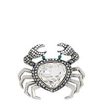 Butler & Wilson Crystal Crab Brooch