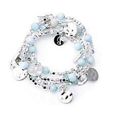 Bcharmd Cruise Semi Precious Wrap Around Bracelet