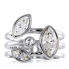 Aurora Swarovski Crystal Stack Ring