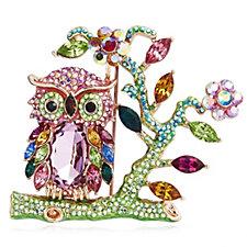 Butler & Wilson Crystal Owl Brooch