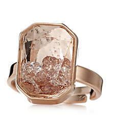 Frank Usher Floating Crystal Adjustable Ring
