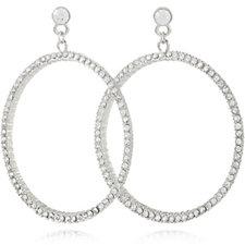 Loverocks Crystal Hoop Earrings