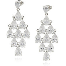 Michelle Mone for Diamonique 14.5ct tw Statement Earrings Sterling Silver