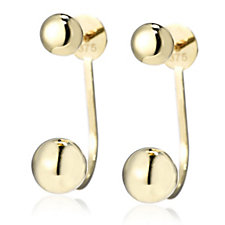 9ct Gold High Polish Jacket Earrings