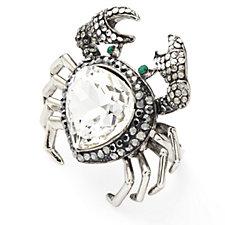 Butler & Wilson Crystal Crab Ring