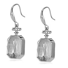 Frank Usher Floating Crystal Perfume Bottle Earrings