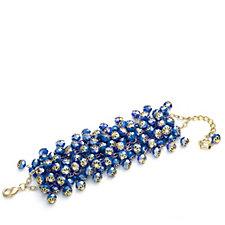 Butler & Wilson Crystal Glass Beaded Cluster Bracelet