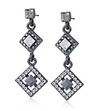 Butler & Wilson Art Deco Style Crystal Drop Earrings
