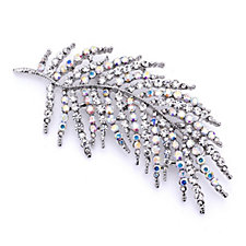 305853 - Loverocks Crystal Feather Brooch